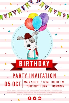 Wektor happy birthday party plakat