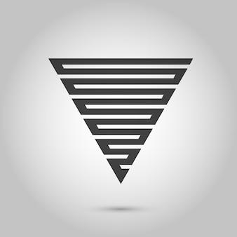 Wektor hipster trójkąt tło plakat z różnymi elementami abstrakcyjne geometryczne plakaty...