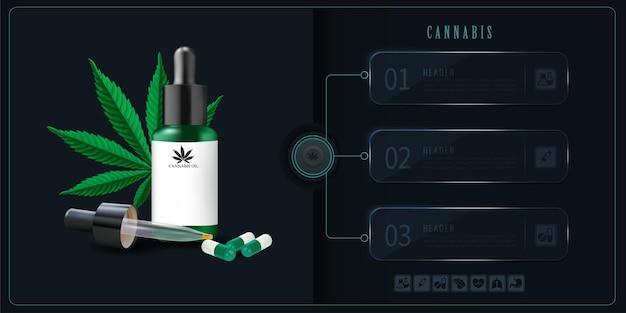 Wektor i ilustracja, olej korzyści zdrowotne, medycyna do użytku medycznego.