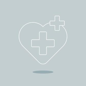 Wektor ikona opieki zdrowotnej