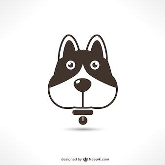 Wektor ikona psa