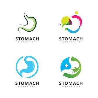 Wektor ikony logo pielęgnacji żołądka