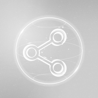 Wektor ikony technologii łączności cyfrowej w kolorze białym na gradientowym tle