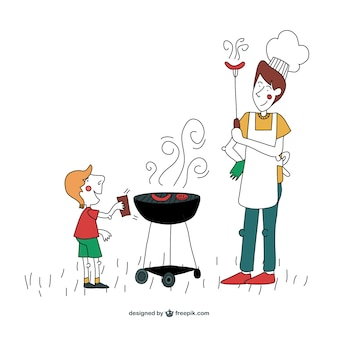 Wektor ilustracja grill