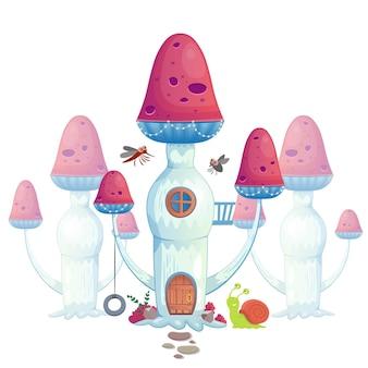 Wektor ilustracja grzyb dom.