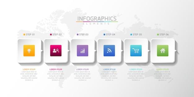 Wektor ilustracja infografiki projekt szablonu informacje biznesowe
