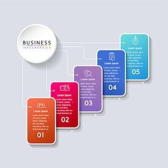 Wektor ilustracja infografiki projekt szablonu informacji marketingowych