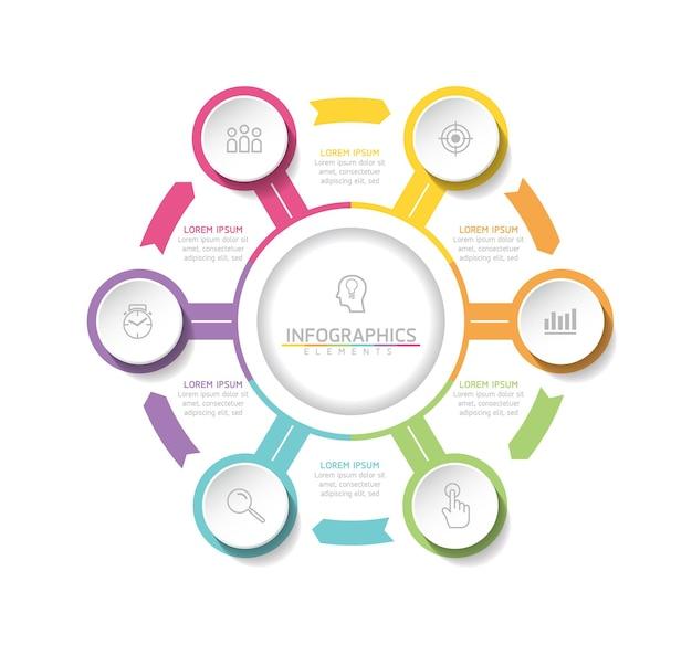 Wektor ilustracja infografiki projekt szablonu opcje informacji biznesowych lub kroki