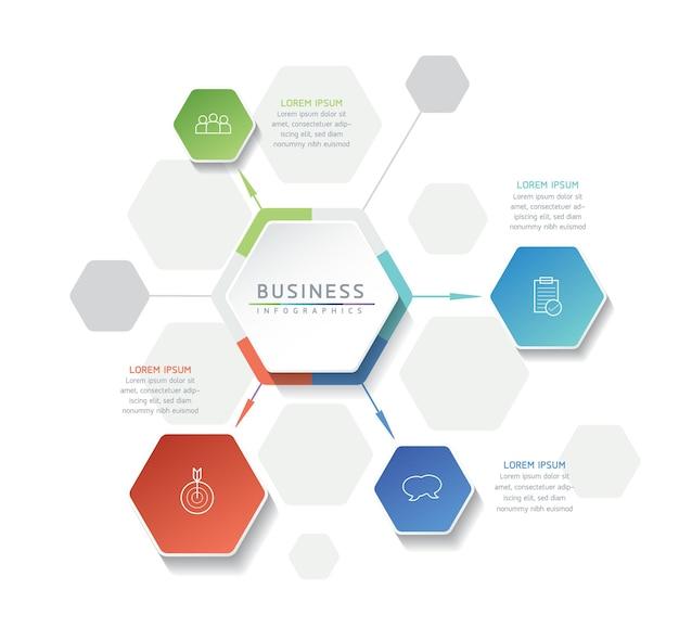 Wektor Ilustracja Infografiki Szablon Projektu Informacji Biznesowych Wykres Prezentacji Z 5 O Premium Wektorów