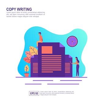 Wektor ilustracja koncepcja pisania kopii