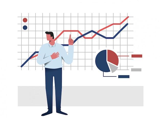 Wektor ilustracja prezentacji biznesowych