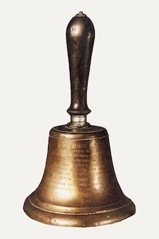 Wektor ilustracji vintage dzwon, zremiksowany z grafiki autorstwa edith towner