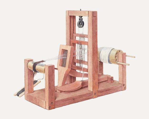 Wektor ilustracji vintage hand loom, zremiksowany z dzieła autorstwa alfreda h. smith