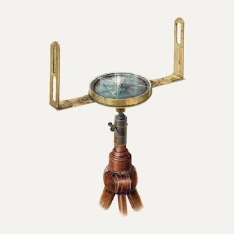 Wektor ilustracyjny kompasu geodety, zremiksowany z grafiki autorstwa archiego thompsona