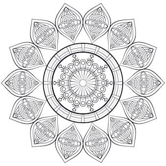Wektor indian mandala