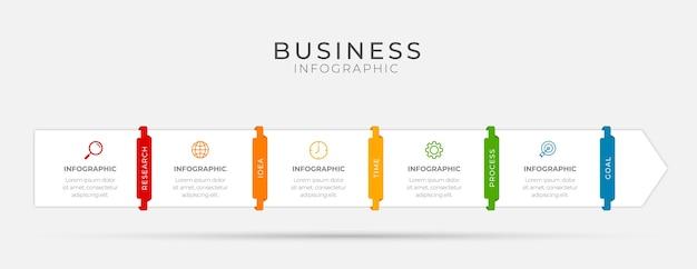 Wektor infografika cienka linia z ikonami i 5 opcjami lub krokami.