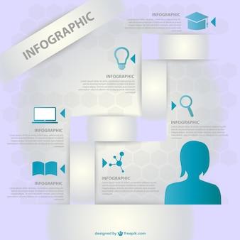 Wektor infografika edukacja