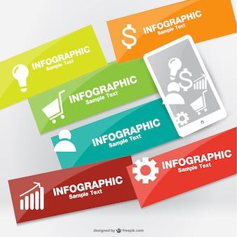 Wektor infografika projekt smartphone