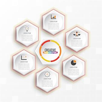 Wektor infografiki 6 opcji