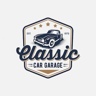 Wektor inspiracji klasycznym logo samochodu premium