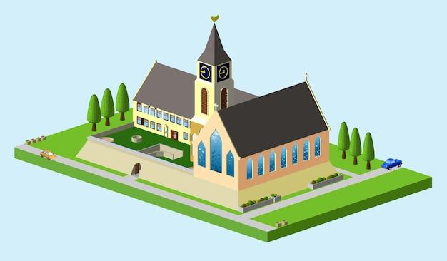 Wektor izometryczny kościoła