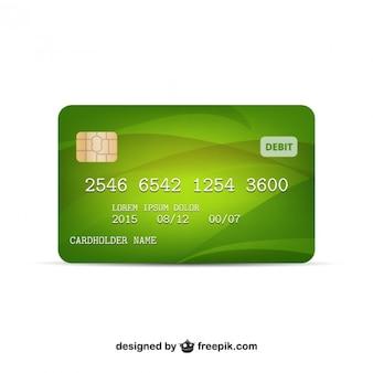 Wektor karty kredytowej