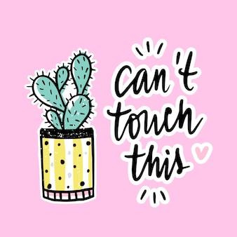 Wektor karty z kaktusa i pozytywne zdanie.