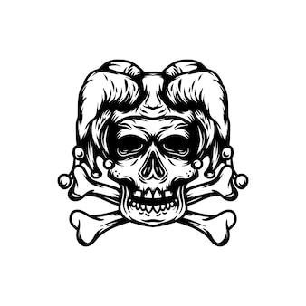 Wektor klauna czaszki