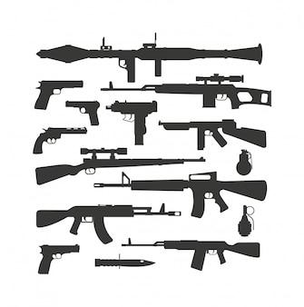 Wektor kolekcji broni.