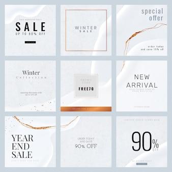 Wektor kolekcji szablonów sprzedaży mody