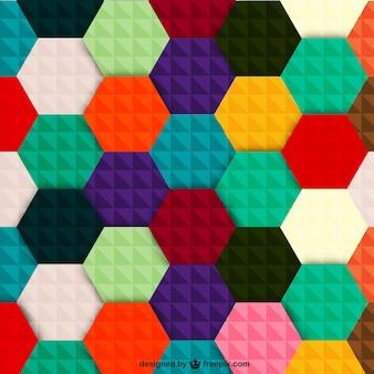 Wektor kolorowe sześciokątne