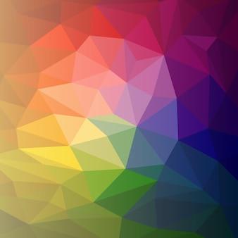 Wektor kolorowy streszczenie tęcza wielobarwny tło wielokąt