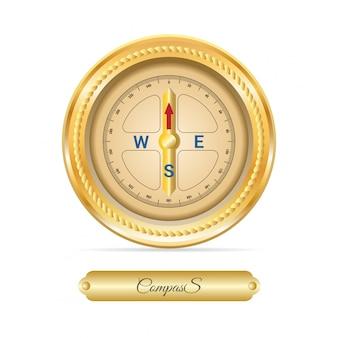 Wektor kompas morskich