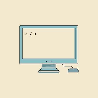 Wektor komputerowy cyfrowy przyrząd
