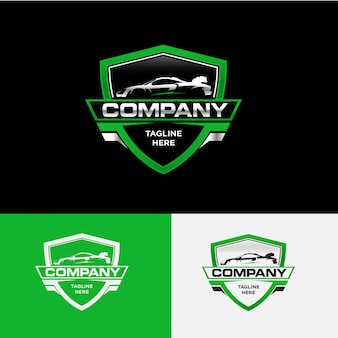 Wektor koncepcja logo firmy motoryzacyjnej