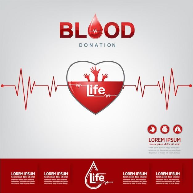 Wektor koncepcja oddawania krwi