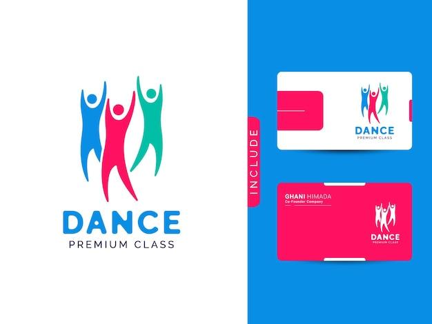 Wektor koncepcji projektowania logo klasy tanecznej