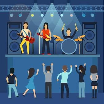 Wektor koncert rockowy