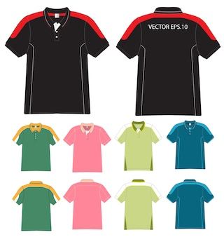 Wektor koszulki polo