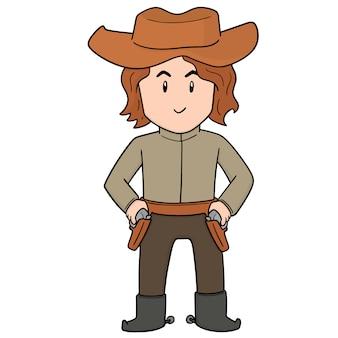 Wektor kowboja