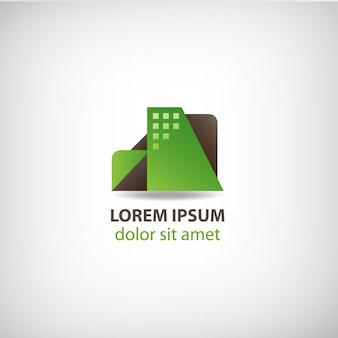 Wektor kreatywne logo budowy budynku dla twojej firmy. mieszkania, apartamenty dom ikona na białym tle