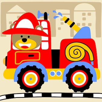 Wektor kreskówka strażak