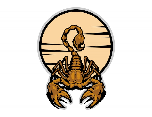 Wektor kreskówka złoty skorpion