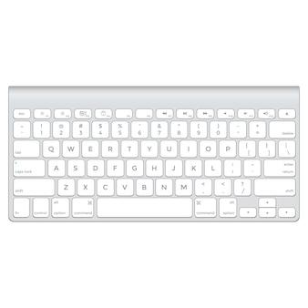 Wektor krótka aluminiowa klawiatura komputerowa