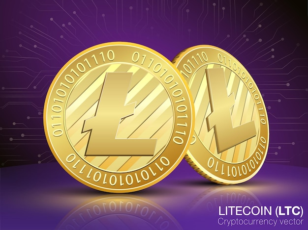 Wektor kryptowaluty litecoin