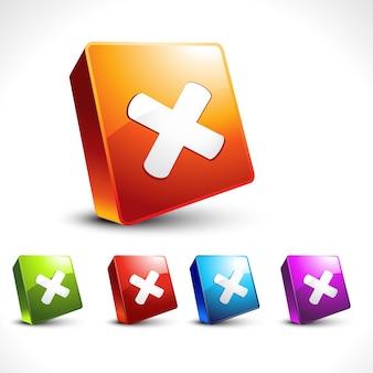 Wektor krzyż 3d styl ikonę projektu