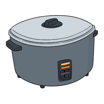 Wektor kuchenka ryżu
