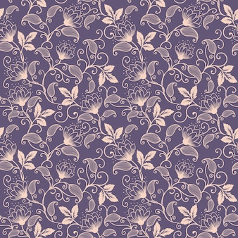 Wektor kwiat bez szwu deseń tła. elegancka faktura dla t? a. klasyczny luksusowy staromodny kwiatowy ornament, bezszwowe tekstury tapet, tekstylia, opakowanie.