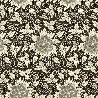 Wektor kwiat bez szwu wzór elementu. elegancka faktura dla t? a. klasyczny luksusowy staromodny kwiatowy ornament, bezszwowe tekstury tapet, tekstylia, opakowanie.