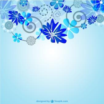 Wektor kwiatowy niebiesko